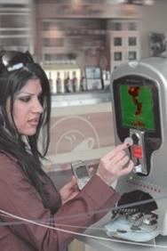 Автоматы для подзарядки сотового телефона